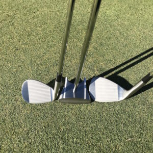GP putter, HBB 56 & Chipping golf club