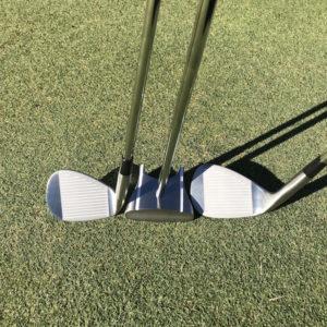 GP putter, HBB 56 & Chipping golf club