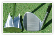 Side Saddle GP putter and the side saddle chipping golf club