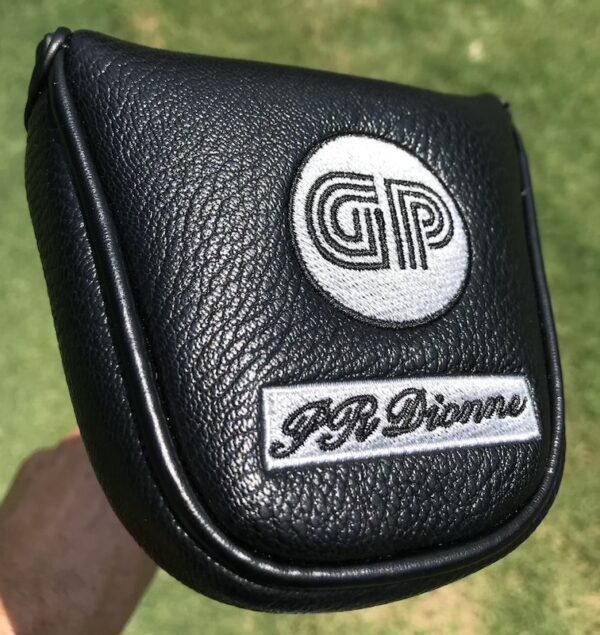 Side saddle GP putter head cover with magnet